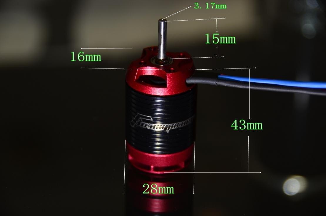 High quality 3D Brushless motor H2221 3980KV 1880kv 3S 6S for 450 Helicopter Shaft Diameter 3.17mm power saving high efficiency<br>