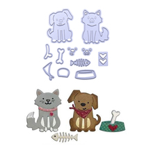 New Cute Cat and Dog Metal Cutting Dies for DIY Scrapbooking Photo Album Embossing Paper Cards Decorative Crafts Animal Die Cuts(China)