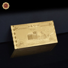 Iraq 50 Dinar Gold Banknote Gold Foil Banknote Accept Mixed Wholesale(China)