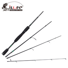 hot sale Fishing Rod 1.98 M portable in 4pcs spinning and casting  99% carbon ceramic guide fishing Tackle easy to carry