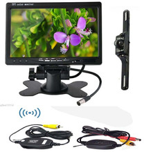 Accfly Wireless Car Backup rear view reverse Camera system for car Night Vision with 7 inch TFT LCD Monitor