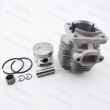 44mm Cylinder Piston Kit 12mm Pin for 49cc 2 Stroke Engine Mini Moto Dirt Pocket Bike ATV Quad Minimoto Motorcycle