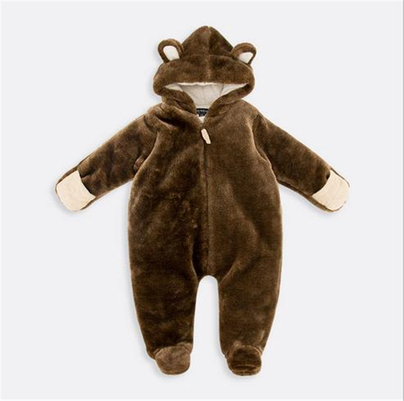 New Winter Foreign Trade Clothing Coral Fleece Jumpsuit Climb Clothes Baby Girls Boys Unisex Package Foot Climb Clothes Children<br>
