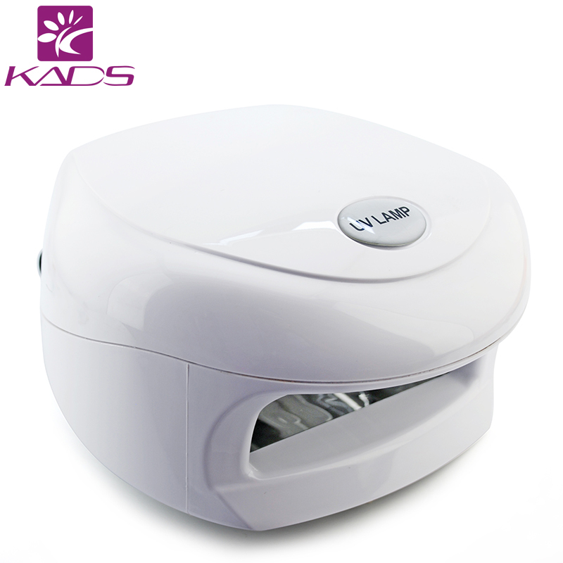 KADS 18W White UV Lamp 220-240V Gel Curing Nail Art (EU Plug) With 4pcs 365nm UV Bulb Nail Tools With CE And RoHs<br>