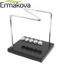 ERMAKOVA Newton Cradle Physics Pendulum Science Z-Type Wood Newton's Cradle Art in Motion Balance Ball Wave Educational Toy(China)
