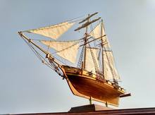 LOVE MODEL Thick material retro Scale 1/96 Classics Antique wooden sail boat model kits HARVEY 1847 wooden Ship Assembly kit(China)