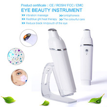USB Rechargeable Infrared Light Heating Vibration Bio Microcurrent Skin Lifting Tightening Eye Wrinkle Removal Beauty Massager(China)