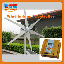 MAYLAR@ 1PC 400W 6 Blades High Efficiency Wind Generator Small Size Low Weight. Low Noise Easy Install +1 PC MPPT Controller(China)