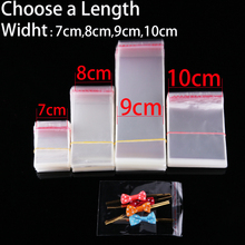 Retail 7 to 10cm Width Clear Small Plastic Bags Jewelry Candy Cookie Packaging Bags Self Sealing Resealable Transparent Gift Bag(China)