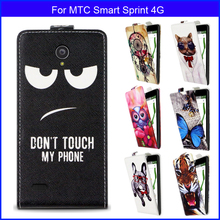 Fashion Patterns Cartoon Luxury Flip up and down PU Leather Case for MTC Smart Sprint 4G,Free gift