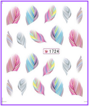 1X  Nail Sticker Plume Feather Pinna Water Transfers Stickers Nail Decals Stickers Water Decal  #1724