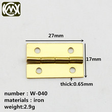W-040 27mm*17mm mini small hinge Accessories for jewelry boxes hinges factory price Quick delivery Package the postage(China)