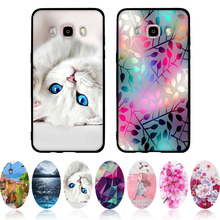 "for Samsung J5 2016 Case Soft Silicone Cover 3D Bags Cat Capa For Samsung Galaxy J5 2016 J510 J5108 Phone Cases 5.2"" Black Shell(China)"