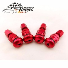 Tuning Monster Universal 4 Rays Volk Racing Forged Aluminum Valve Stem Caps Wheels Rims
