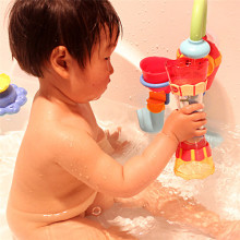 Baby Bath Toys Toddler Boy Funny Plastic Bath Toy Swim Water Whirly Wand Cup Beach Toys for Children Kids Boys Gift(China)