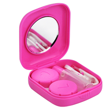 2017 Hot Style Pink Mini Contact Lens Travel Kit Case - Pocket Size