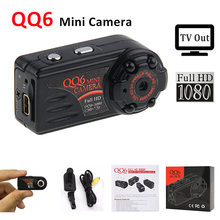 Full HD 1080P 720P Mini Camera QQ6 IR Night Vision Mini DV Camera Thumb Motion Sensor Small Video Kamera 12M DVR Camcorder