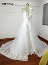 Buy 2017 Sheer Cap Sleeves Line Wedding Dresses Deep O Neck Lace Plus Size Illusion Detachable Train Custom Made Bridal Wedding for $228.00 in AliExpress store