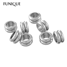 Stainless Steel Circle Hoop Jump Rings Double-deck For Necklace Bracelets Diy Jewelry Findings (Hole Size:7mm) 10 PCs 11mmx5.8mm