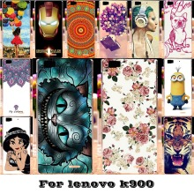 Painted Mobile Phone Skin Cases For Lenovo K900 K 900 5.5'' Covers Anti-Scratch Protective Bags 18 Styles Plastic Durable Shell