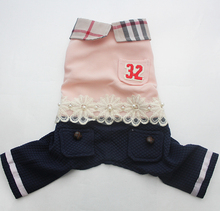 Girl Dog Cat POLO Shirt Dress Jumpsuit Plaid&Lace Tutu Puppy Skirt Hoody Clothes Apperal