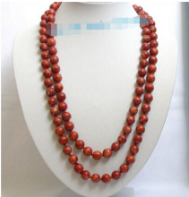 "DYY+++818 Stunning! long 48"" 12mm red sponge coral necklace"