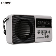 LEORY New LCD Mini Portable DC 5V FM Radio Speaker With TF Card Slot Sports Rechargeable MP3 Music Player Loudspeaker