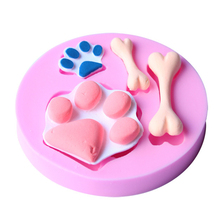 The dog footprint and bones cake molds chocolate mould for the kitchen baking clay mold Sugarcraft Decoration Tool D470
