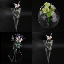 3 Styles Creative Transparent Clear Glass Vase Home Decorative Vase Decorated Nursery Hotel Small Bottle Set