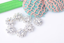 Free Shipping Flatback Crystal Rhinestone Embellishment Button 10mm 20pcs/lot Silver Color