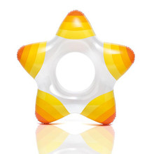 High quality star swimming ring transparent inflatable inflatable swimming ring for children xx109(China)