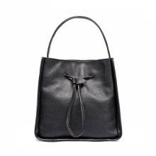 2017 Square Shape Leisure Women Shoulder Bag 100% Genuine Leather Drawstring Female Handbag with Purse Famous Brand Tote Bags