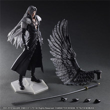 "Action 25cm Anime Figure Play Art Kai Fantasy VII 7 Sephiroth PVC 10"" Collection Hobby Movable Model Doll Best Gift Cosplay Toy"