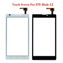 "New Black White Touch Screen For ZTE Blade L2 Lens Sensor Glass Original 5.0"" Front Touch Panel Replacement Mobile Accessory(China)"