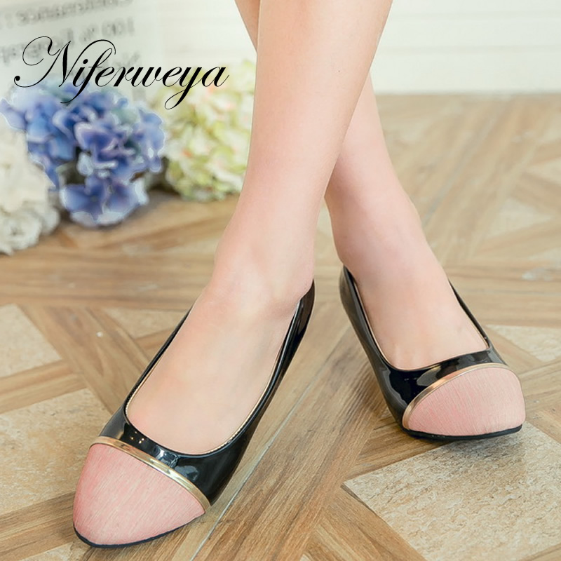 Big size 28-52 Spring/Autumn women pumps fashion Round Toe Mixed Colors ladies shoes new Slip-On Shallow Wedges high heels 8012<br>