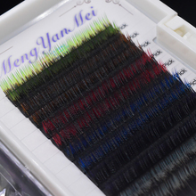 J/B/C/D 0.15 Gradient colorful individual eyelash extensions purple/blue/red/green/brown handmade makeup party