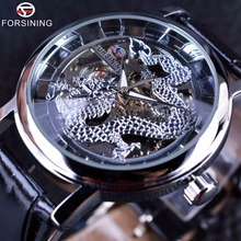 Forsining 2016 Dragon Carving Series Skeleton Designer Transparent Back Case Mens Watches Top Brand Luxury Male Mechanical Watch