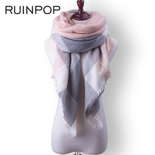 RUINPOP Fashion Women Winter Scarf Luxury Brand Ladies Scarves Wraps Warm Shawls Scarf For girls Triangle Bandana Drop Shipping