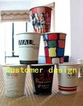 Low MOQ 1000pcs l disposable logo printed  paper cup customer design custom logo coffee shop food grade printing oil