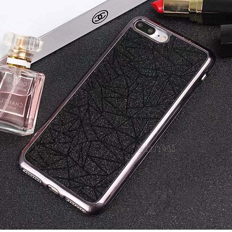 Bling Fashion Luxury Matte Dimensional Phone Case Apple iPhone 8 Plus Case TPU Soft Back Cover Phone case Shell 5.5 inch