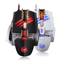 Hot Style Laser Comfortable gaming Mouse Memory Game Custom Light 7 Key Internet Cafe Computer for Competitive games LOL DOTA2(China)