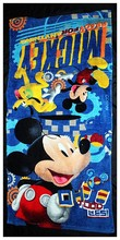 New Cute Mickey Mouse Bath Towels Breathable Soft Plush Cotton Towels 120*60CM Kids Christmas Birthdays Gifts