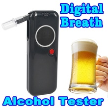 Professional Police Digital Car Detector Alcohol Alkohol Tester Breathalyzer Alcotest AlCoholic Meter High Accuracy LCD Display(China)