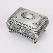 Vintage European Style Metal Jewel Case Jewellery Box Russia Royal Selangor Wedding Gift JW4221(China)