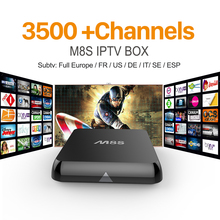 M8S Amlogic S812 Android 4.4 Smart TV Box with SUBTV Iptv Account Arabic Sport Canal Quad Core 2GB RAM 8GB ROM IPTV Set Top Box