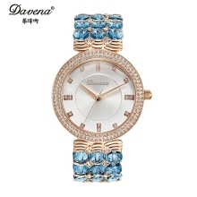 2016 new Women's Austrian crystal rhinestone jewelry watches Women fashion casual quartz watch Good quality Davena 60891 clock