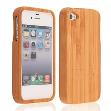Wood color Bamboo Wood Hard Back Case Cover Protector for iPhone 4 wholesale Dropshipping