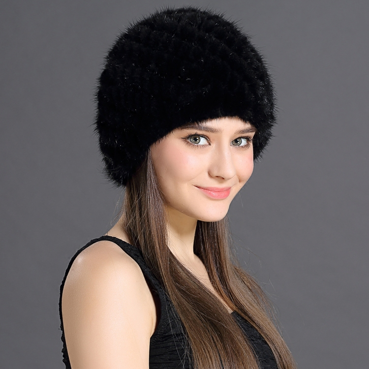 Womens Winter Hats With Natural Real Fur Female Cap Mink Fur Real Knitted Caps Pineapple Hat Hold Ears Mink Fur Hat For WomenОдежда и ак�е��уары<br><br><br>Aliexpress