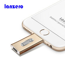 USB FLASH Drive For iPhone 6,6 Plus,7,6S,7 Plus ipad Metal Pen drive HD memory stick Dual purpose mobile Otg Micro for IOS 10(China)