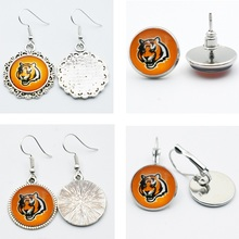 10air Newest Sports Team Jewelry Glass Earrings Football Cincinnati Bengals For Fans Gift Sports Stud/Drop Charm Earrings(China)